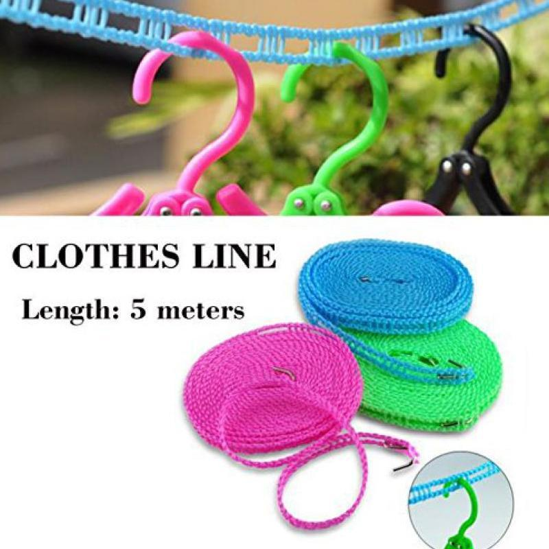 clothesline-drying-nylon-rope-with-hooks