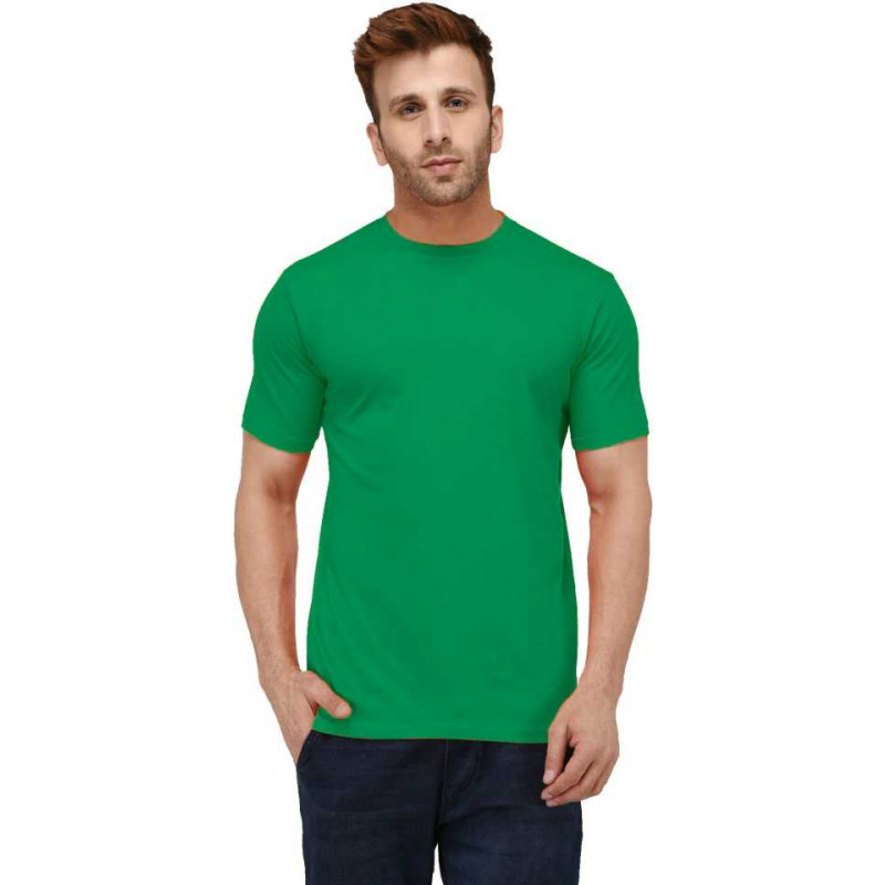 plain-green-mens-round-neck-t-shirt