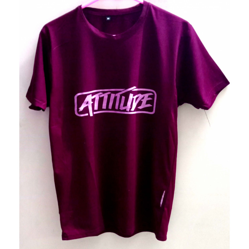 mens-maroon-attitude-round-neck-slim-fit-t-shirt