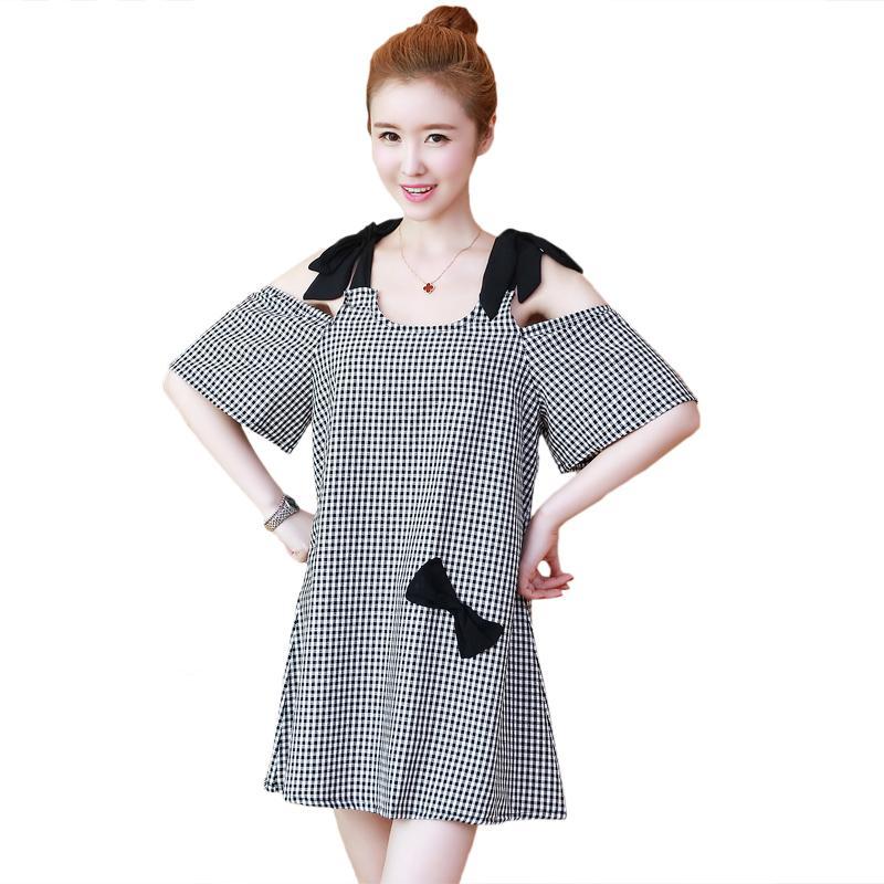 cotton-lattice-pregnant-dress
